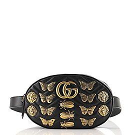 Gucci GG Marmont Belt Bag Embellished Matelasse Leather
