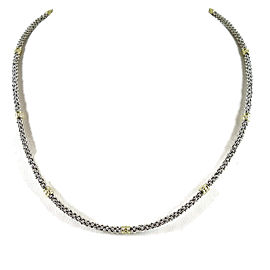 Lagos Caviar 18K Yellow Gold, Sterling Silver Necklace