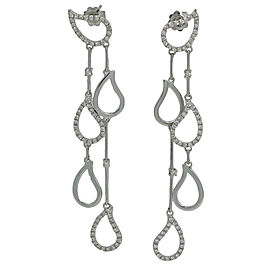 Chimento 18K White Gold and 1.20ct. Diamond Paisley Dangle Earrings
