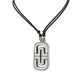 Bulgari 18K White Gold & Leather Parentesi Necklace