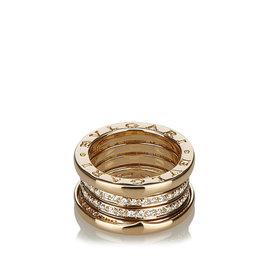 Bulgari B.Zero1 18K Yellow Gold with Diamond Band Ring Size 5.5