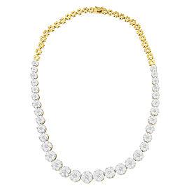 14K Yellow Gold 14.8ctw. Diamond Necklace