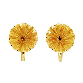 Tiffany & Co. 18K Yellow Gold Carved Citrine Rare Earrings