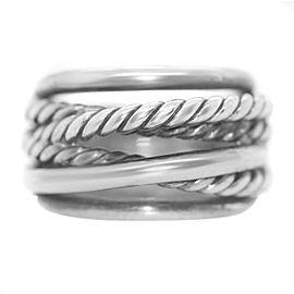 David Yurman Sterling Silver Crossover Ring