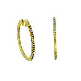 Penny Preville 18K Yellow Gold & Diamond Hoop Earrings