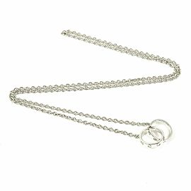Cartier 18K White Gold Baby Love Chain Pendant Necklace CHAT-100