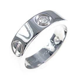 Cartier 18K White Gold Love Half Diamond ring TkM-126