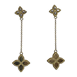 Roberto Coin 18K Yellow Gold with 0.09ct. Diamond Flower Drop Earrings