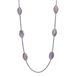 Charles Krypell Sterling Silver Pink Mother of Pearl Necklace