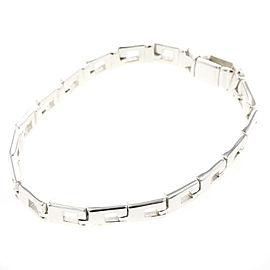 GUCCI 925 silver G logo bracelet