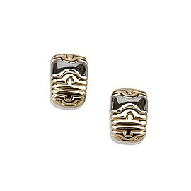 Bulgari Parentesi 18K Yellow Gold and Stainless Steel Earrings