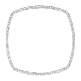 Judith Ripka Sterling Silver Cable Square Bangle Bracelet
