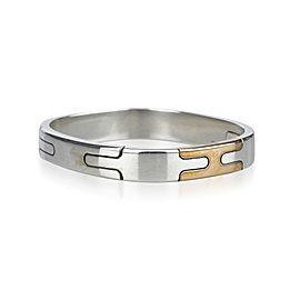 Hermes 925 Sterling Silver and Bronze Bangle Bracelet
