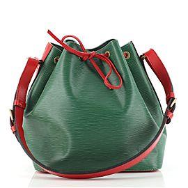 Louis Vuitton Bicolor Petit Noe Handbag Epi Leather