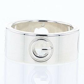 GUCCI Silver925 G logo wide Ring TBRK-387