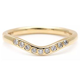Tiffany & Co. Elsa Peretti 18K Yellow Gold Diamond Ring Size 5