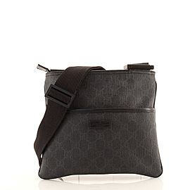 Gucci Flat Messenger Bag GG Coated Canvas Small
