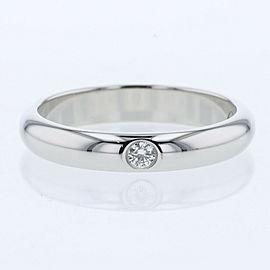 CARTIER platinum 1p diamond Wedding Ring TBRK-636