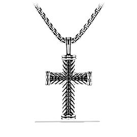 David Yurman Chevron Cross with Black Diamonds