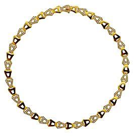 Asprey Gold Diamond Chain Link Necklace