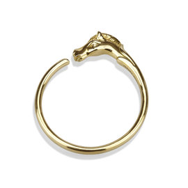 Hermes Gold Tone Hardware Horse Head Bangle Bracelet