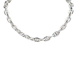 Hermes Silver Tone Hardware Chaine d'Ancre Necklace