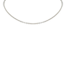 Hermes Silver Tone Hardware Chain Necklace