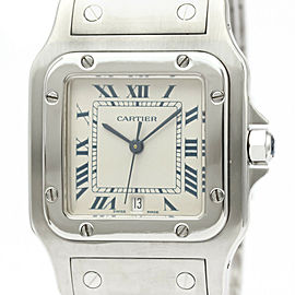 Polished CARTIER Santos Galbee Steel Quartz Mens Watch 987901
