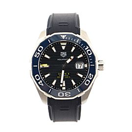 Tag Heuer Aquaracer Caliber 5 Automatic Watch Stainless Steel and Rubber 44