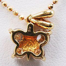 Butterfly Butterfly motif Necklace K18 yellow gold/diamond Women