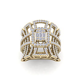 GLAM ® Statement ring in 18K gold with white diamonds of 1.85 ct in weight