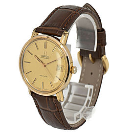 OMEGA Deville Gold Plated/Leather Cal.1012 Automatic Men's Watch