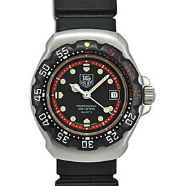 TAG HEUER Formula 1WA1414 Black/Red Dial SS/Rubber Quartz Ladies Watch