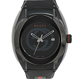 GUCCI Sink sherry line 137.1/YA137101 black Dial Quartz Men's Watch