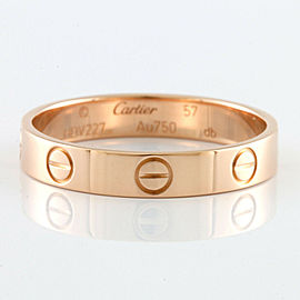 CARTIER 18K Pink Gold Mini Love Ring CHAT-1219