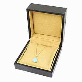 BVLGARI 18K Rose Gold Turquoise Diamond Divas' Dream Pendant Necklace CHAT-13