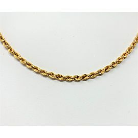 Unoaerre 18K Yellow Gold Diamond Cut Rope Chain Necklace