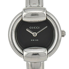 GUCCI 1400L Black Dial Stainless Steel Quartz Women's Watch