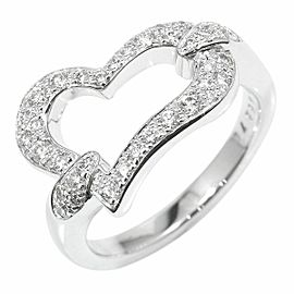 Piaget 18K White Gold Diamond Heart Limelight Ring