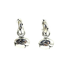John Hardy Sterling Silver Kali Charm Hoop Earrings
