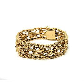 14k Yellow Gold Vintage Fancy Link Chain Bracelet