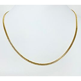 18k Yellow Gold Vintage Cuban Link Chain Necklace