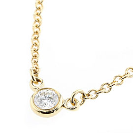 TIFFANY & Co. By The Yard K18 Yellow Gold / diamond Necklace TBRK-311