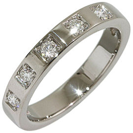 Bvlgari Bulgari Marryme 5P Diamonds Wedding Ring Platinum 950 US4.25