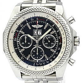 Polished BREITLING Bentley 6.75 Steel Automatic Mens Watch A44364