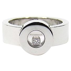 Chopard 18K White Gold Happy Diamond Icon Ring Size: 6