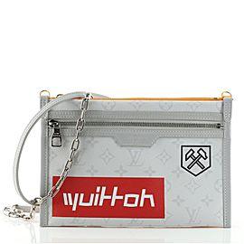 Louis Vuitton Double Flat Messenger Bag Limited Edition Logo Story Monogram Canvas