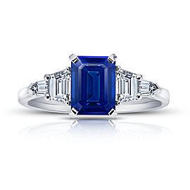 Platinum 2.25ctw. Sapphire 0.79ctw. Diamond Ring Size 7