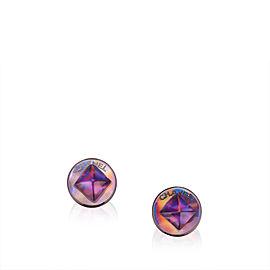 Chanel Circular Push Back Earrings