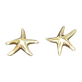 Tiffany & Co. Elsa Peretti 18K Yellow Gold Starfish Stud Earrings
